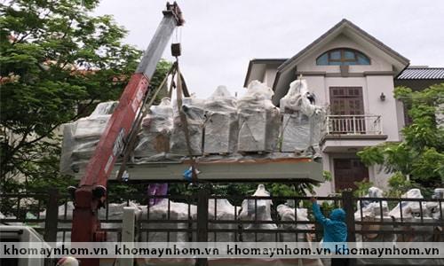 Chuyển máy sản xuất cửa nhôm tại ngoại thành Hà nội 1