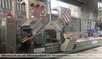 Dòng máy cắt nhôm 2 đầu sử dụng lưỡi cắt 450mm cơ bản