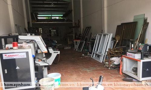 Chuyển máy làm cửa nhôm Phú Xuyên 5
