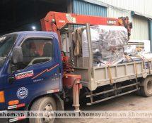 chuyển máy sản xuất cửa nhôm khách hàng tại thái bình hải phòng thanh hóa