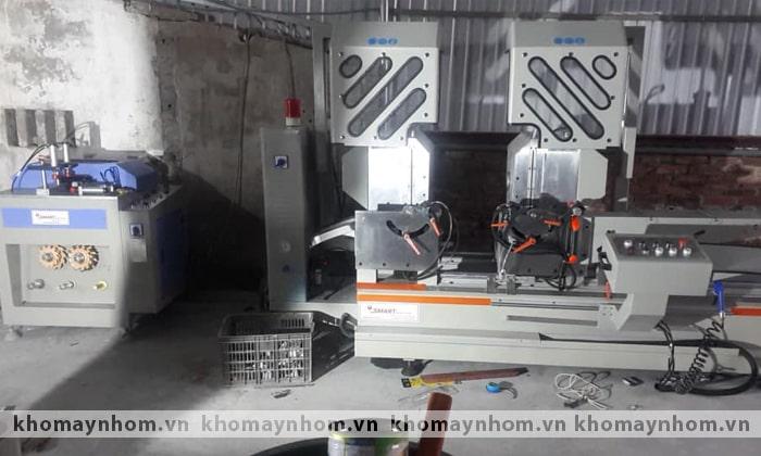 bàn giao máy sản xuất cửa nhôm bình giang hải dương