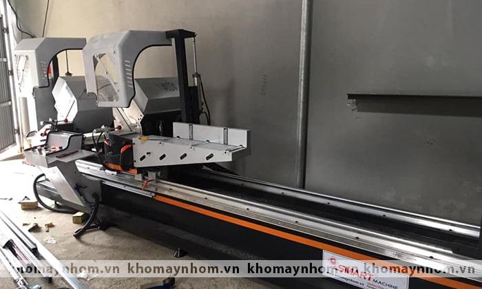 lắp đặt máy sản xuất cửa nhôm đan phượng hà nội