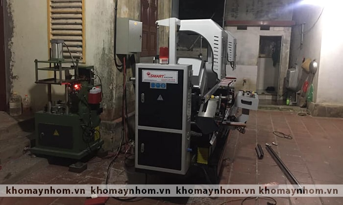 bàn giao máy sản xuất cửa nhôm bắc ninh hà nội